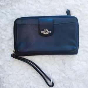 Coach wallet wristlet with cellphone slot